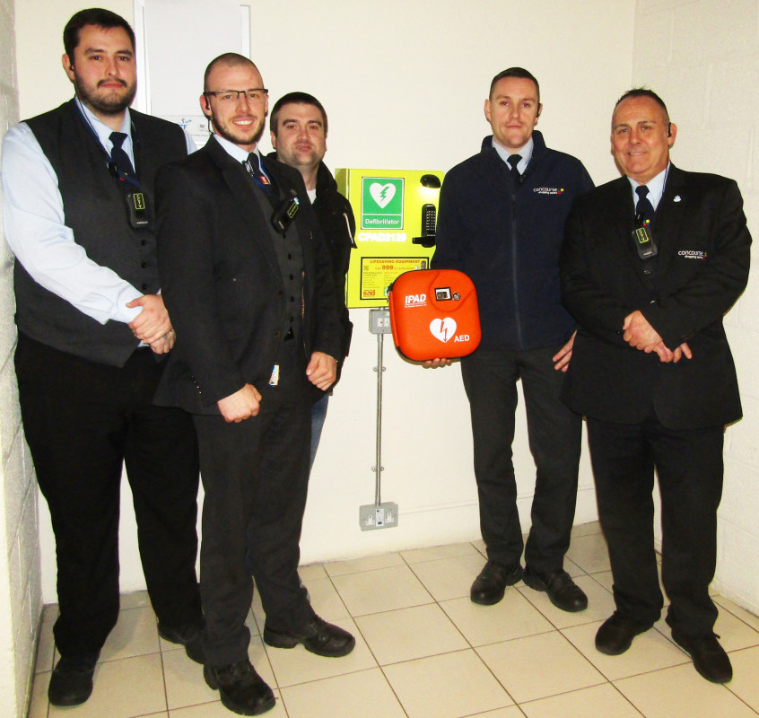 New Image for CONCOURSE SHOPPING CENTRE SECURITY OFFICERS PRAISED  AFTER SAVING A PERSON'S LIFE USING DEFIBRILLATOR